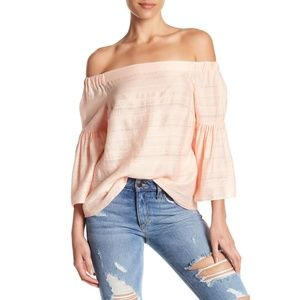 NWT Nordstrom Embroidered Off-the-Shoulder Blouse